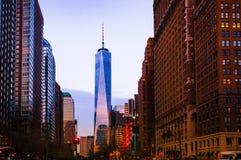 En World Trade Center, New York Arkivbilder