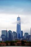 En World Trade Center New York City Arkivbilder