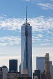 En World Trade Center NYC Arkivfoto