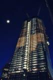 En World Trade Center på natten Royaltyfria Foton