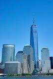 En World Trade Center som står högväxt fotografering för bildbyråer