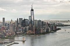 En World Trade Center under konstruktion Royaltyfria Bilder