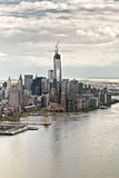 En World Trade Center under konstruktion Arkivbilder