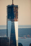 En World Trade Center under konstruktion, Manhattan, New York City Royaltyfri Foto