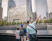 En World Trade Centerminnesmärke Arkivbild