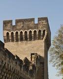 En y alrededor de las paredes de Avignon Fotografía de archivo