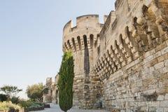 En y alrededor de las paredes de Avignon Fotografía de archivo libre de regalías