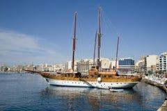 Turkisk Gulet yacht, Malta. Royaltyfria Foton