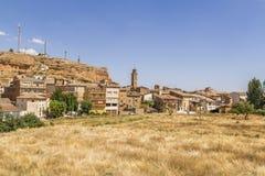 En Zaragoza för Pueblode Ariza Arkivbilder