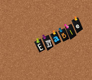 Enable notice concept Stock Photography