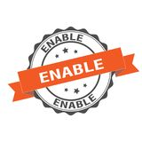 Enable stamp illustration. Enable seal stamp illustration design Stock Images