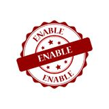 Enable stamp illustration. Enable red stamp seal illustration design Stock Image