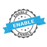 Enable stamp illustration. Enable seal stamp illustration design Royalty Free Stock Photos