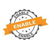 Enable stamp illustration. Enable stamp seal illustration design Royalty Free Stock Photo