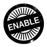 Enable stamp rubber grunge. Enable stamp. Grunge design with dust scratches. Effects can be easily removed for a clean, crisp look. Color is easily changed Royalty Free Stock Photos