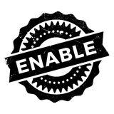 Enable stamp rubber grunge. Enable stamp. Grunge design with dust scratches. Effects can be easily removed for a clean, crisp look. Color is easily changed Royalty Free Stock Photography