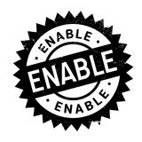 Enable stamp rubber grunge. Enable stamp. Grunge design with dust scratches. Effects can be easily removed for a clean, crisp look. Color is easily changed Royalty Free Stock Images