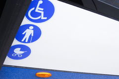 Enabled bus for transport of disabled and aged people Royalty Free Stock Images