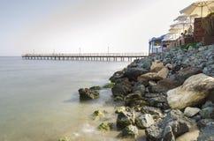 Enaerios pier, Limassol, Cyprus Royalty Free Stock Photo