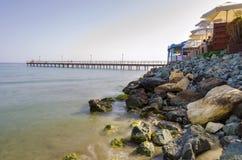 Enaerios-Pier, Limassol, Zypern Lizenzfreies Stockfoto
