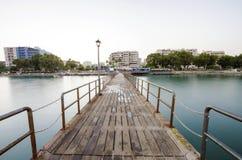 Enaerios-Pier, Limassol, Zypern Lizenzfreies Stockbild
