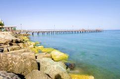 Enaerios-Pier, Limassol, Zypern Lizenzfreie Stockfotos