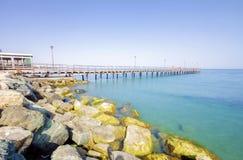 Enaerios-Pier, Limassol, Zypern Stockbild