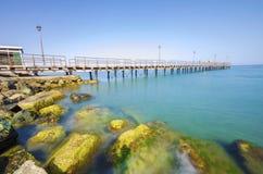 Enaerios-Pier, Limassol, Zypern Stockfotos