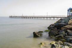 Enaerios-Pier, Limassol, Zypern Stockbilder