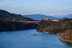 Enakyo Bridge. In Gifu Prefecture, Japan Stock Photos