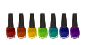 Enamel. Nail polish in different colors Stock Photography