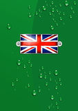 Enamel British Union Jack Flag - Background Stock Photo