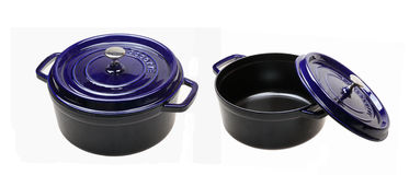 Enamel cast iron pan Stock Images