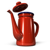 Enamel Coffee Pot Stock Image