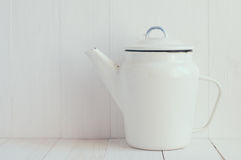 Enamel coffee pot Royalty Free Stock Photos