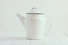Enamel coffee pot Stock Photos