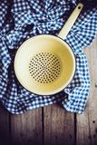 Enamel colander Royalty Free Stock Images
