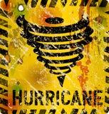 Enamel hurricane warning sign, Royalty Free Stock Photos