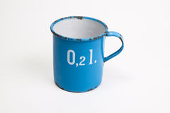 Enamel measuring jug Royalty Free Stock Photography