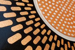 Enamel and metal texture. Abstract geometric enamel and metal texture Royalty Free Stock Image