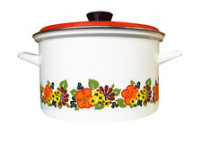 Enamel Pot Royalty Free Stock Photo