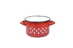 Enamel pot Stock Images