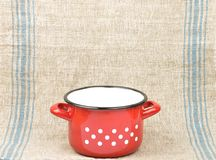 Enamel pot Stock Photography