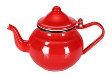 Enamel teapot Royalty Free Stock Image