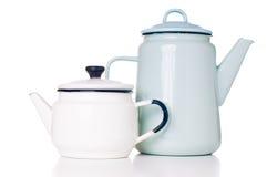 Enameled coffee pots Stock Image
