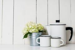 Enameled kitchenware Stock Image
