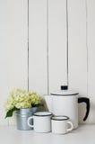 Enameled kitchenware Royalty Free Stock Photo