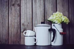 Enameled kitchenware Stock Photos