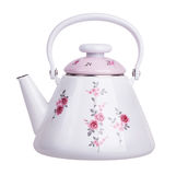 Enameled metal teapot Stock Photos