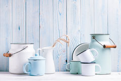 Enamelware still life Royalty Free Stock Image